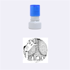 Patterned Rhino Rubber Round Stamps (Small)