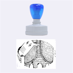 Patterned Rhino Rubber Oval Stamps