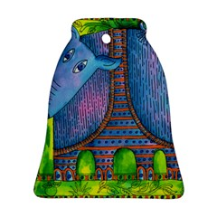 Patterned Rhino Bell Ornament (2 Sides)