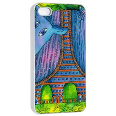 Patterned Rhino Apple iPhone 4/4s Seamless Case (White)