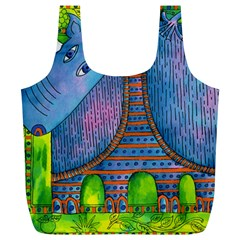 Patterned Rhino Full Print Recycle Bags (l)
