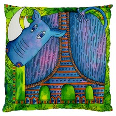 Patterned Rhino Large Flano Cushion Cases (Two Sides)