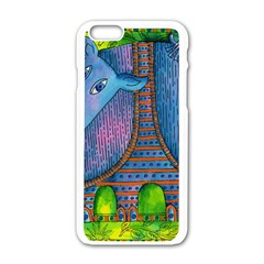 Patterned Rhino Apple iPhone 6 White Enamel Case