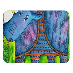 Patterned Rhino Double Sided Flano Blanket (Large)