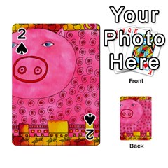 Patterned Pig Playing Cards 54 Designs