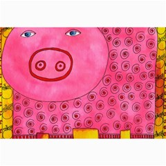 Patterned Pig Collage 12  X 18