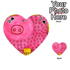Patterned Pig Playing Cards 54 (Heart)