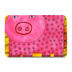 Patterned Pig Plate Mats