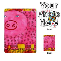 Patterned Pig Multi-purpose Cards (Rectangle)