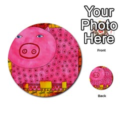 Patterned Pig Multi Purpose Cards (round)