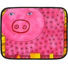 Patterned Pig Fleece Blanket (Mini)