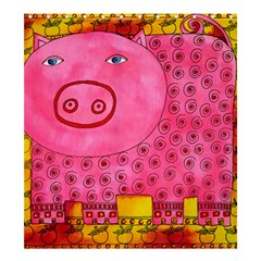 Patterned Pig Shower Curtain 66  x 72  (Large)