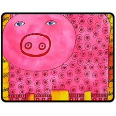 Patterned Pig Fleece Blanket (Medium)