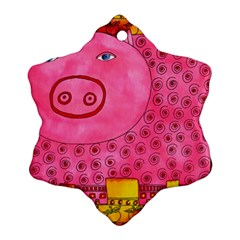 Patterned Pig Ornament (snowflake)