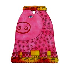 Patterned Pig Bell Ornament (2 Sides)