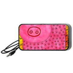 Patterned Pig Portable Speaker (Black)