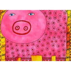 Patterned Pig Birthday Cake 3D Greeting Card (7x5)
