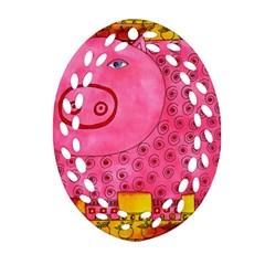Patterned Pig Ornament (Oval Filigree)