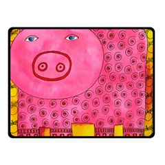 Patterned Pig Double Sided Fleece Blanket (small)