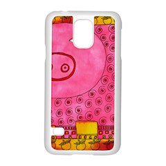 Patterned Pig Samsung Galaxy S5 Case (White)