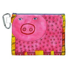 Patterned Pig Canvas Cosmetic Bag (XXL)