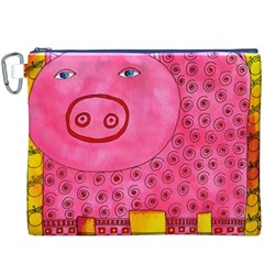Patterned Pig Canvas Cosmetic Bag (XXXL)