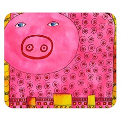 Patterned Pig Double Sided Flano Blanket (Small)