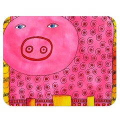 Patterned Pig Double Sided Flano Blanket (medium)