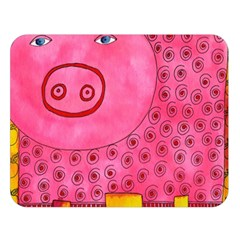 Patterned Pig Double Sided Flano Blanket (Large)
