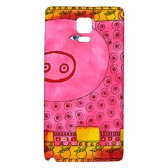 Patterned Pig Galaxy Note 4 Back Case