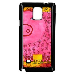 Patterned Pig Samsung Galaxy Note 4 Case (Black)
