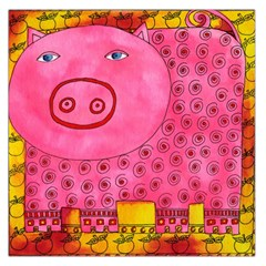 Patterned Pig Large Satin Scarf (Square)