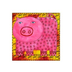 Patterned Pig Satin Bandana Scarf