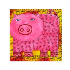Patterned Pig Small Satin Scarf (Square)