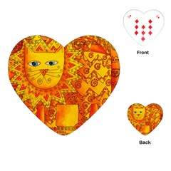 Patterned Lion Playing Cards (Heart)