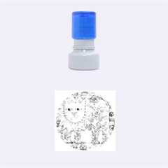 Patterned Lion Rubber Round Stamps (Small)