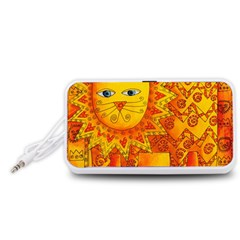 Patterned Lion Portable Speaker (White)