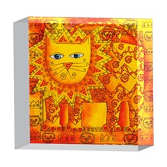 Patterned Lion 5  x 5  Acrylic Photo Blocks