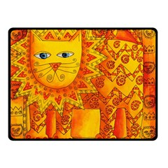Patterned Lion Double Sided Fleece Blanket (Small)