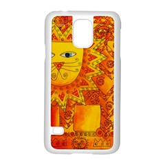 Patterned Lion Samsung Galaxy S5 Case (White)