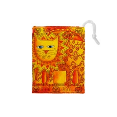 Patterned Lion Drawstring Pouches (small)