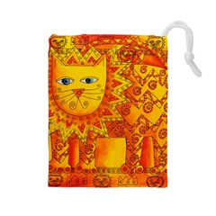 Patterned Lion Drawstring Pouches (Large)