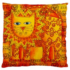 Patterned Lion Standard Flano Cushion Cases (One Side)