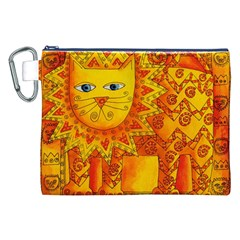 Patterned Lion Canvas Cosmetic Bag (XXL)
