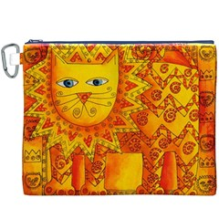 Patterned Lion Canvas Cosmetic Bag (XXXL)