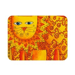 Patterned Lion Double Sided Flano Blanket (Mini)