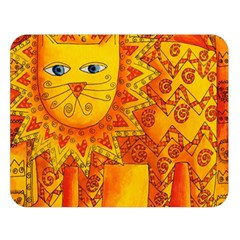 Patterned Lion Double Sided Flano Blanket (large)