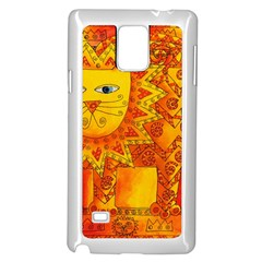 Patterned Lion Samsung Galaxy Note 4 Case (White)