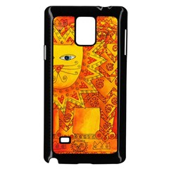 Patterned Lion Samsung Galaxy Note 4 Case (Black)