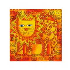 Patterned Lion Small Satin Scarf (Square)